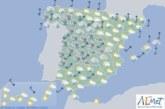 Hoy ne España precipitaciones en Galicia y viento fuerte en amplias zonas del interior