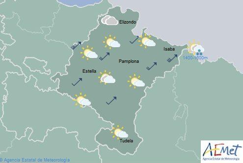 Nubosidad en disminución y posibilidad de chubascos sobre todo en el Pirineo