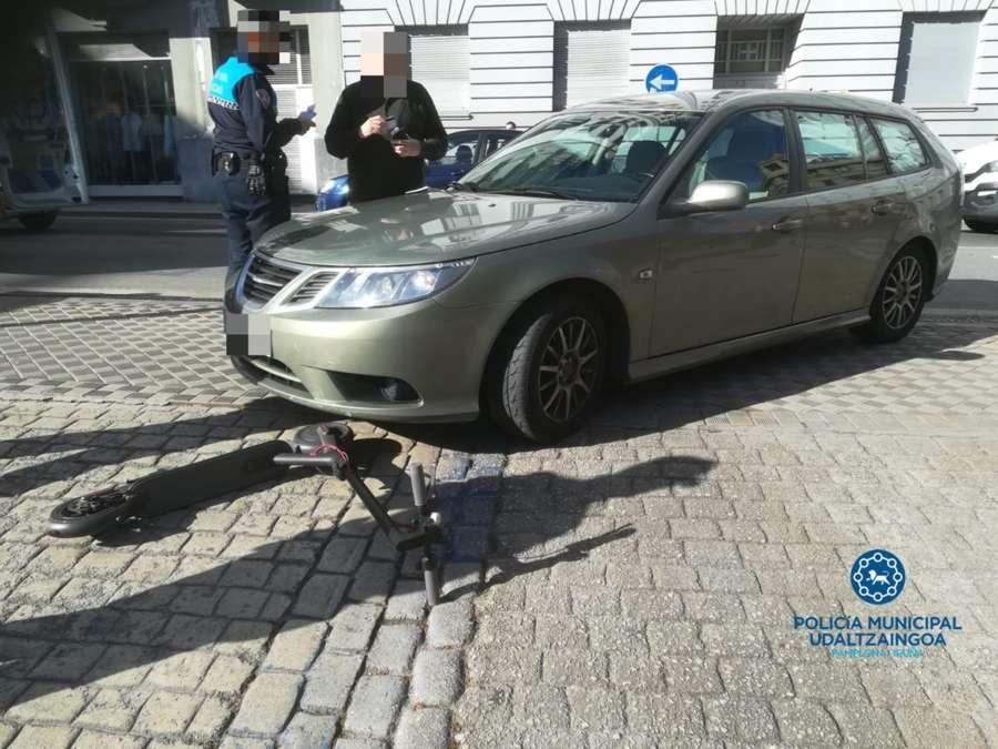 Cuatro heridos en accidentes de tráfico en Pamplona, dos atropellados