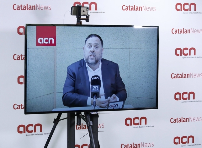 28-A: Junqueras se abre a investir a Sánchez sin renunciar a un referéndum ni a la independencia