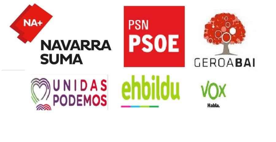Los partidos navarros en marcha en una campaña que se reparte ya por Navarra