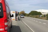 Dos heridos en una colisión entre un turismo y un vehículo pesado en Barásoain, la vía quedará cortada