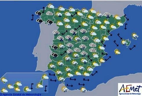 Hoy en España, la lluvia persiste en gran parte del país