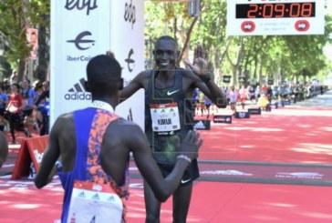 El keniano Kerio y la etíope Insermu destrozan los récords del maratón de Madrid