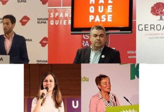 28-A: Los candidatos navarros no adelantan pactos, aunque ponen sus líneas rojas