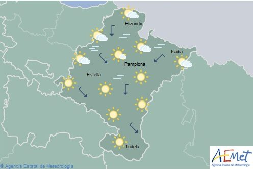En Navarra temperaturas máximas en acusado ascenso