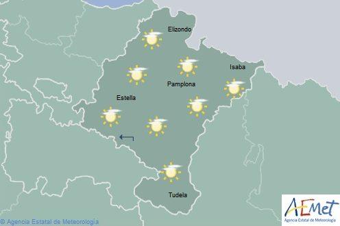 En Navarra lluvias y chubascos que pueden ir acompañados de tormentas