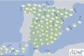 Hoy en España, intervalos de viento fuerte en el nordeste