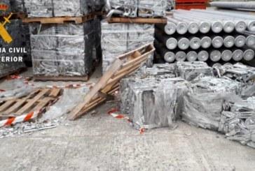 Detenidas tres personas por delito de robo con fuerza de aluminio en la Cuenca de Pamplona