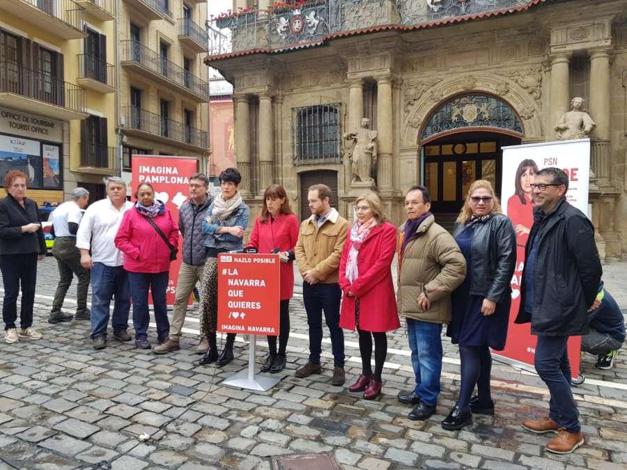 Esporrin defiende voto al PSN como la oportunidad para el cambio progresista