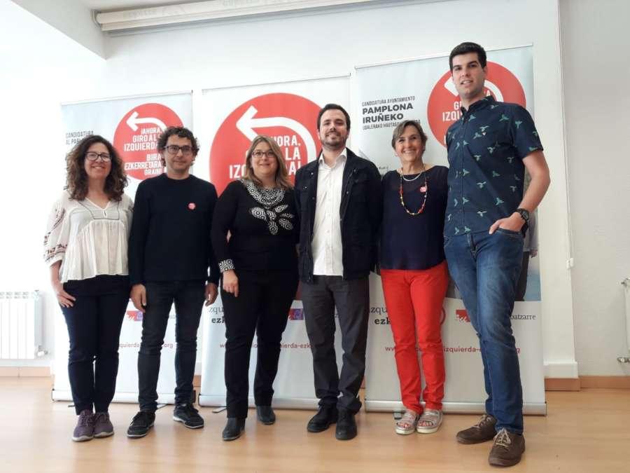Garzón (IU), «absolutamente cómodo» con el acuerdo de gobierno nacionalista en Navarra