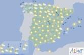 Hoy en España, temperaturas significativamente altas en el nordeste