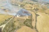 Un incendio quema 3 hectáreas de monte bajo y cereal en Tafalla