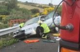 Un motorista herido grave en un choque en la A-15, a la altura de Noáin