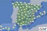 Hoy en españa, vientos fuertes en Estrecho y ascenso térmico en el área mediterránea
