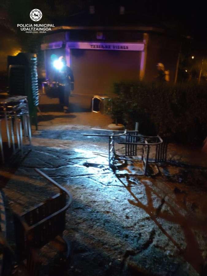 Cuatro incendios sin heridos esta noche en Pamplona