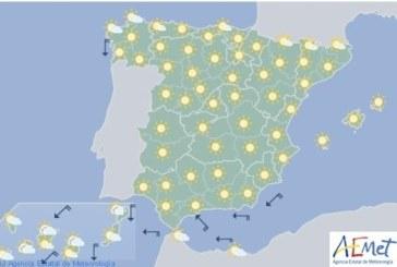 Hoy en España temperaturas altas en el interior y bajo Ebro