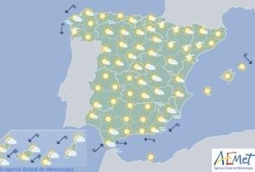 Hoy en España, temperaturas altas en los valles del Tajo, Guadiana y Guadalquivir