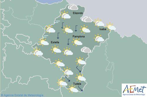 En Navarra temperaturas sin cambios significativo, lluvias en la Ribera