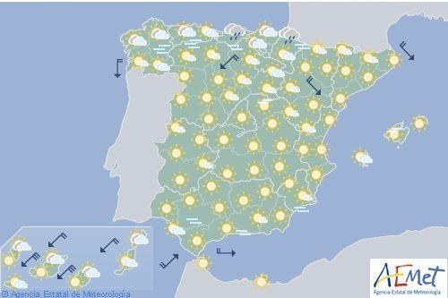 Hoy en España, chubascos y tormentas en el Pirineo oriental