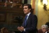 Casado: Sánchez no es de fiar y es una prolongación de los independentistas