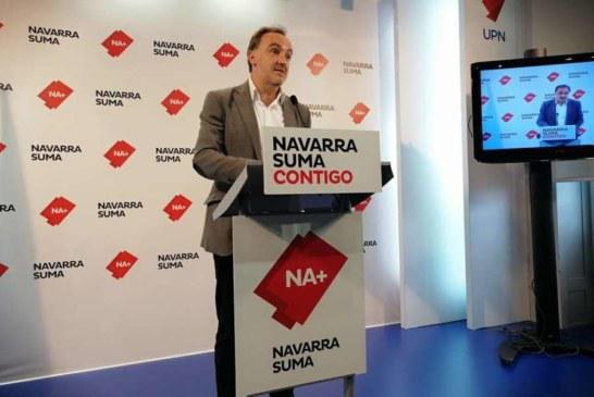 Esparza (NA+): Chivite cede una vez más ante Barkos y deja claro que quiere el apoyo de Bildu