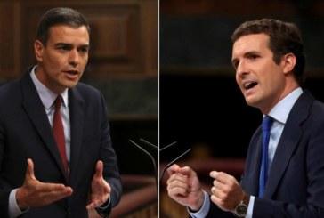 Sánchez redobla sin éxito su presión al PP y a Cs para que se abstengan en su investidura