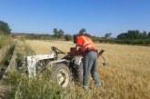Fallece un agricultor al volcar su tractor en un camino rural de Tulebras