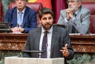 Fernando López Miras, presidente de Murcia con los votos de PP, Cs y Vox