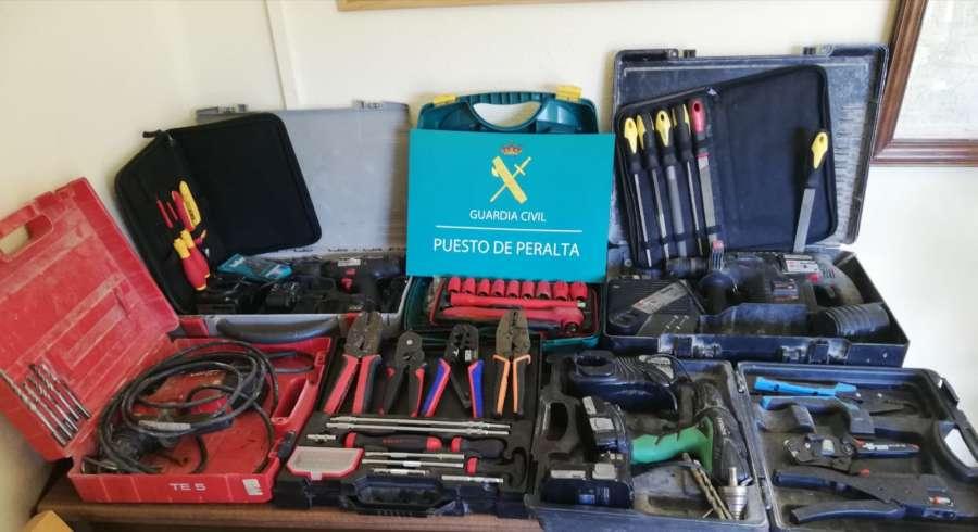 Detenido por robar herramientas por valor de 5000 € en Navarra