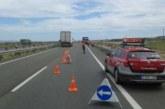 Un camión atraviesa la mediana de la A68 (km 102) y circula 100 metros en dirección contraria