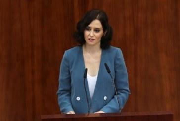 Isabel Díaz Ayuso es investida presidenta de la Comunidad de Madrid
