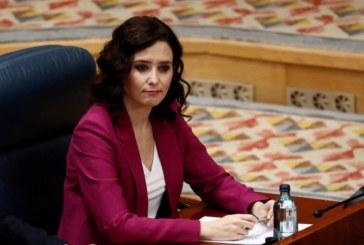 Ayuso (PP) expone su discurso de investidura a presidenta de la Comunidad de Madrid