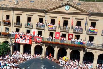 NA+ denuncia que ikurriña y bandera republicana «empañan» las fiestas de Tafalla