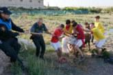 Capturada una vaquilla escapada en un festejo taurino en Valtierra