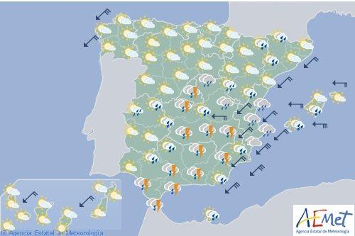El tiempo para hoy sábado en España