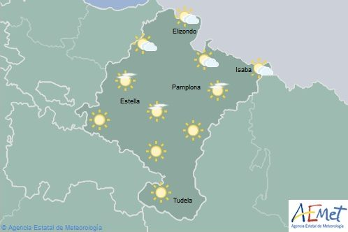 El tiempo en Navarra para hoy martes