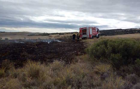 Un incendio forestal quema 1,5 hectáreas en Miranda de Arga
