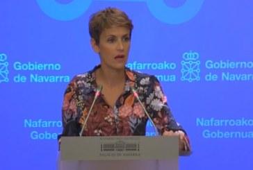 María Chivite insta a «acatar y cumplir» la sentencia del «proceso» separatista