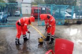 Bomberos achican agua en Pamplona y localidades limítrofes por la tormenta