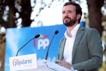 Proceso: Casado insta a Sánchez a apercibir a Torra para que cumpla la Constitución