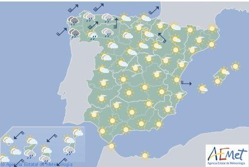 El tiempo hoy miércoles en España
