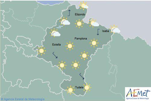 El tiempo en Navarra para hoy lunes
