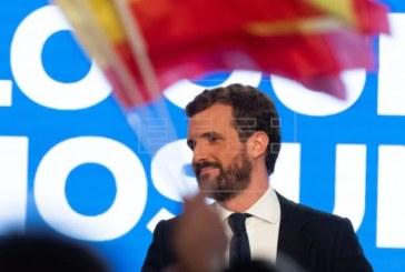 10N: Casado avisa que cualquier voto que no sea al PP irá para investir a Sánchez