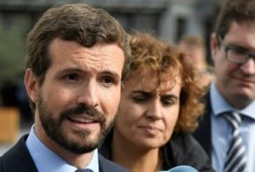 Sentencia proceso: Casado pide una respuesta «firme» ante declaraciones de Torra en el Parlamento catalán