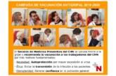 Salud recomienda la vacunación antigripal al personal sanitario