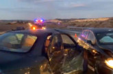 Una persona herida en un accidente de tráfico en la NA-115, en Peralta