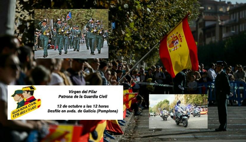 La Guardia Civil de Navarra celebra el Día de su Patrona, la Virgen del Pilar