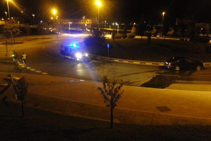 Un conductor sufre un accidente en Pamplona y da positivo en alcohol