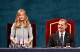 Premios Princesa de Asturias: La Infanta Leonor se compromete con «España y los españoles»